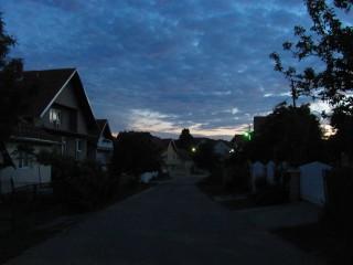 cold night sky village