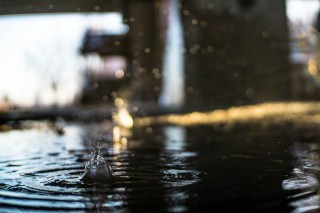 raindrop puddle waves