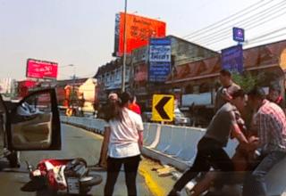 road rage thailand