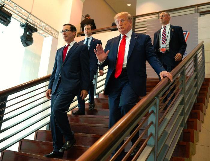 Trump with Treasury Secretary Mnuchin Planned a $2 Trillion Stimulus Package
