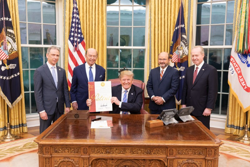 Trump signs patent number 10 million
