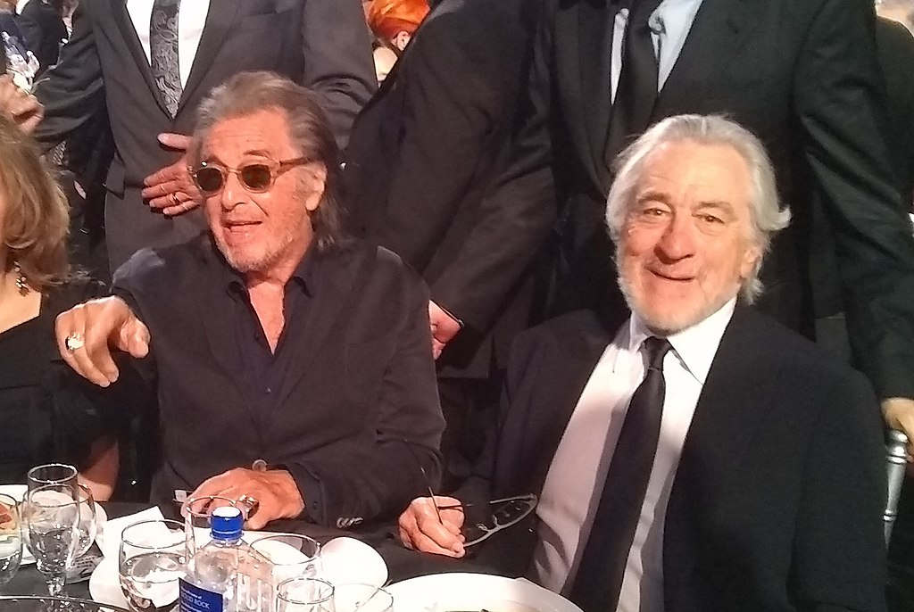 The Irishman table - al pacino and de niro