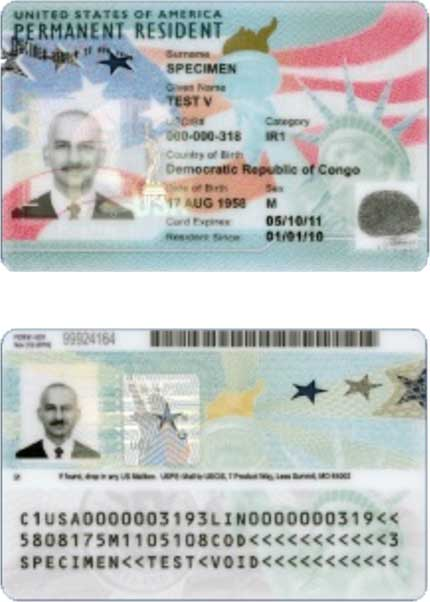 U.S. Permanent Resident Card