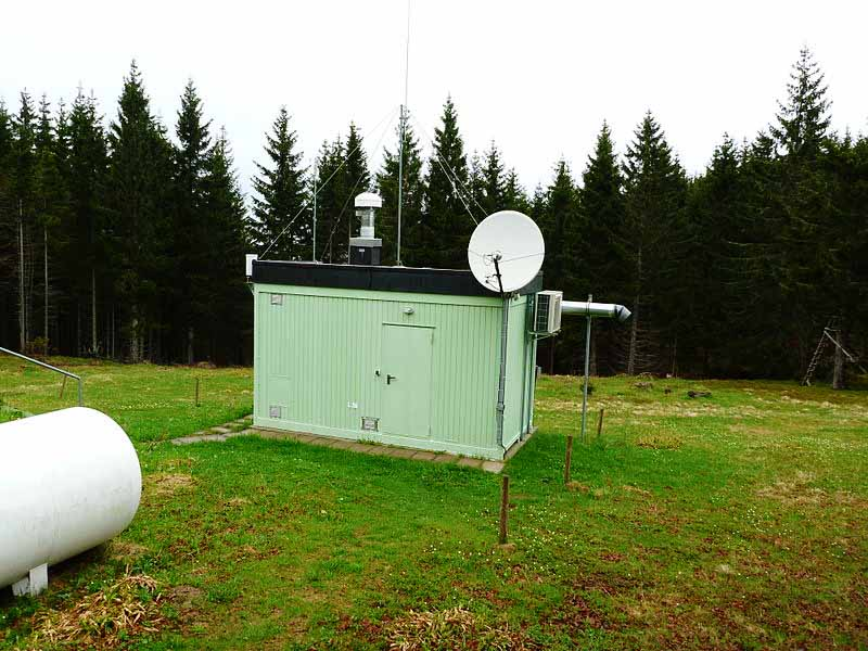 CTBTO nuclear radionuclid station on mountain Schauinsland near Freiburg