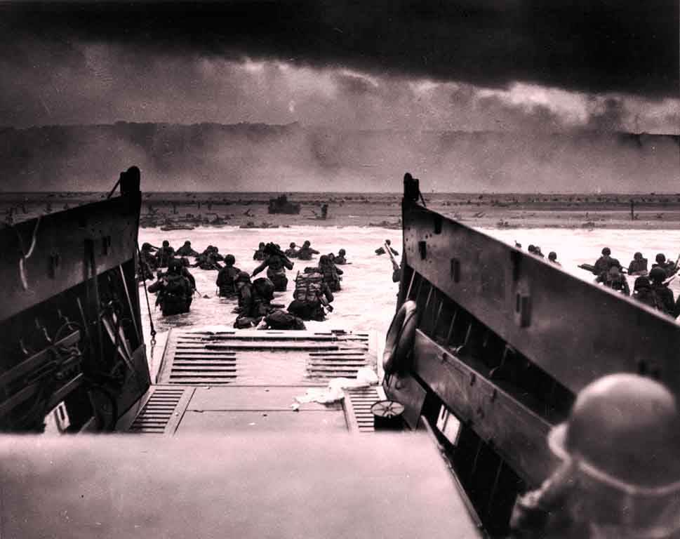 D-day June 6 1944 storming in Normandy, France