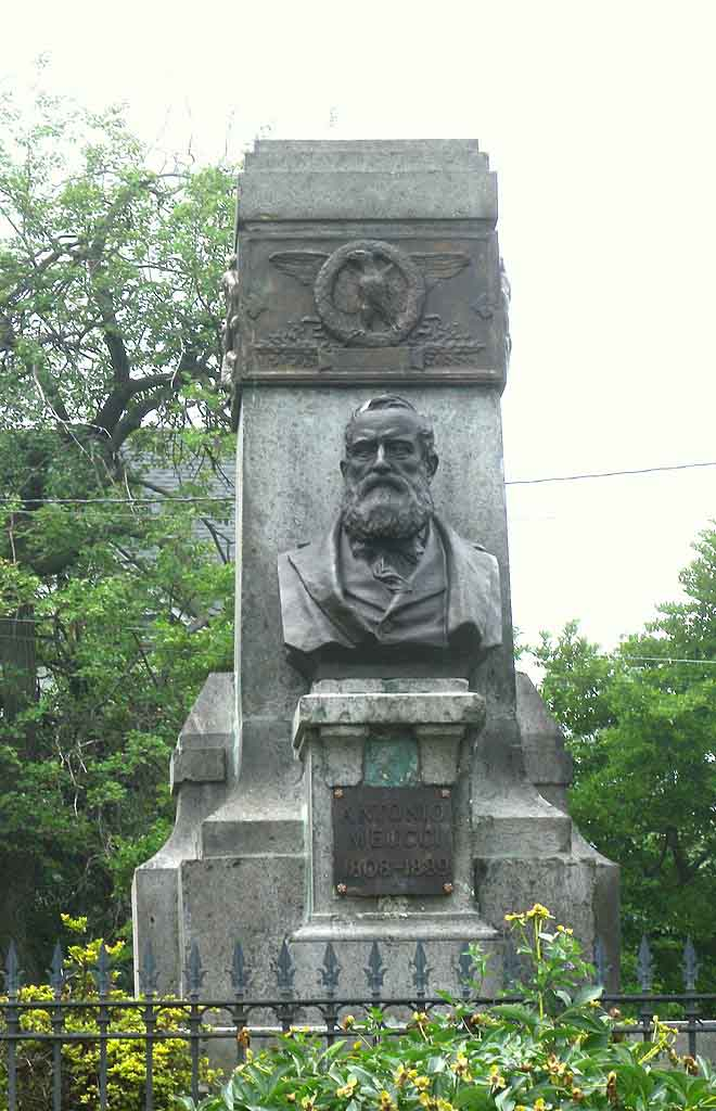 Monument of Antonio Meucci, the inventor of the telephone, New York