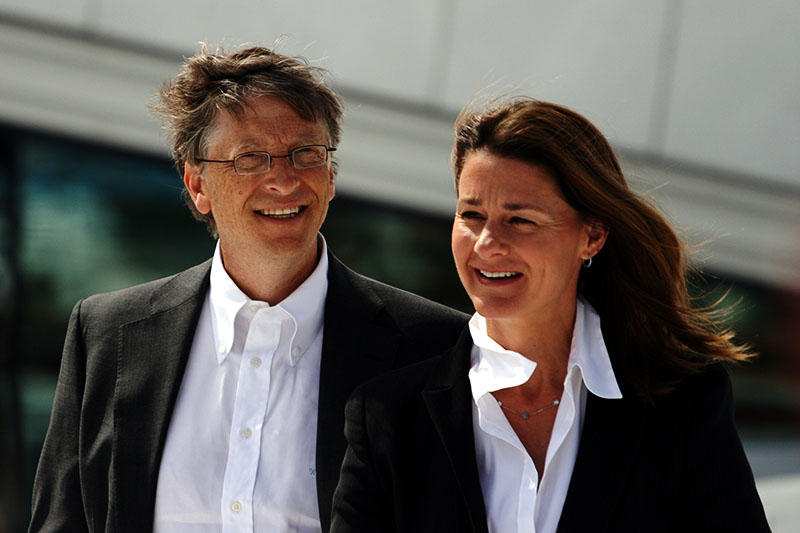 Bill Gates and his wife
