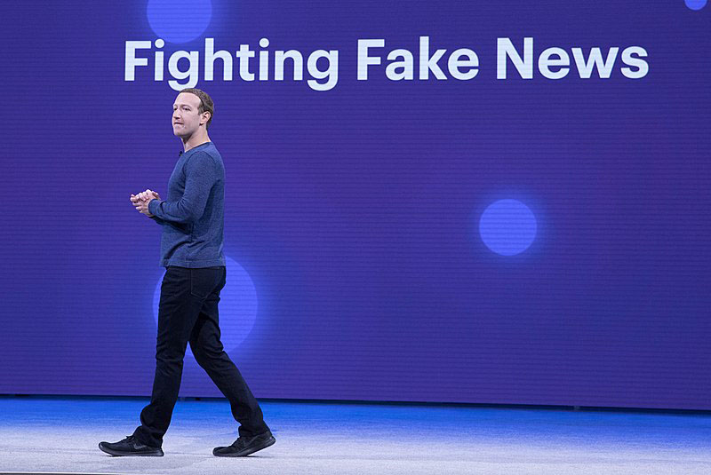 Facebook CEO Mark Zuckerberg advocacy for fighting fake news did not prevent the North Face from boycotting Facebook