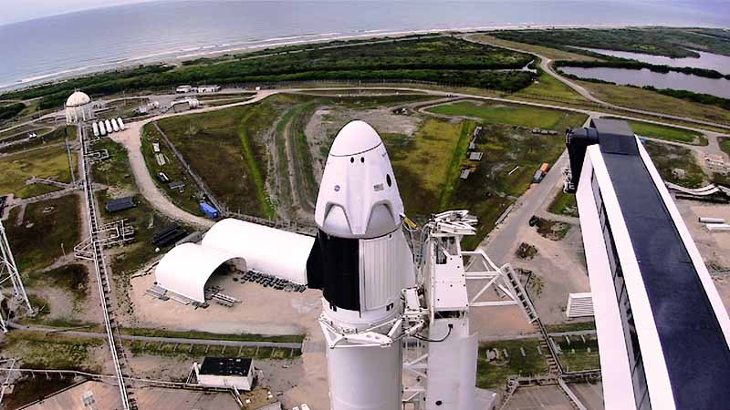 SpaceX Falcon 9 Launch Preparation