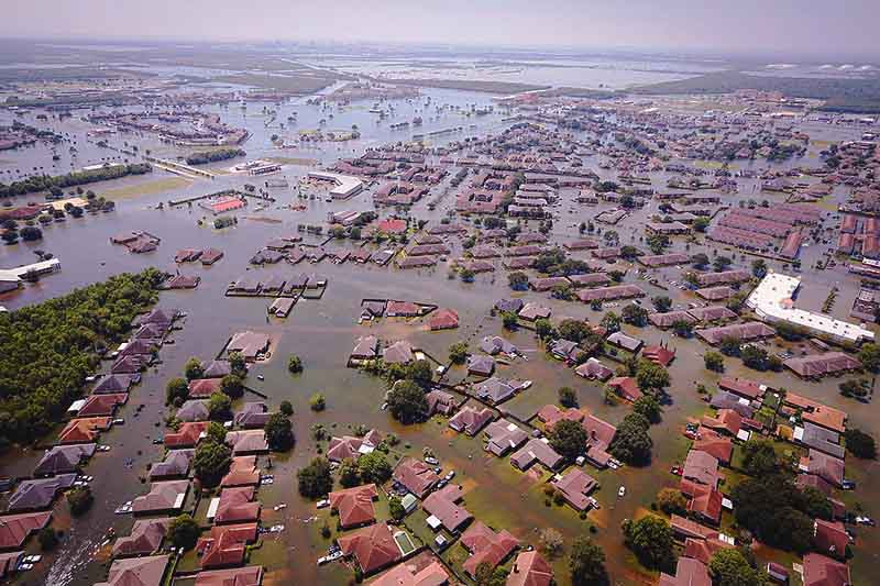 flood after hurricane harvey, US.