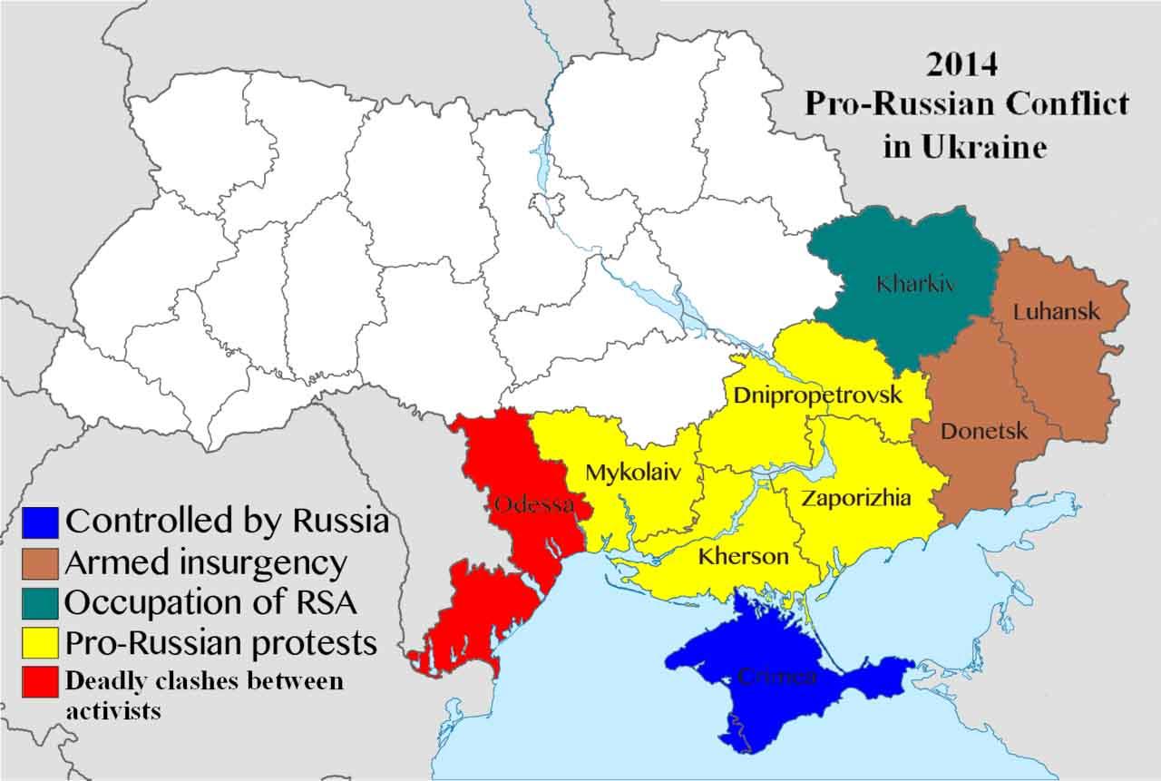 Ukraine - Russia Conflict Map
